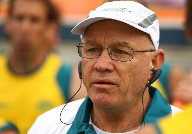 Kookaburras and coach Ric Charlesworth.