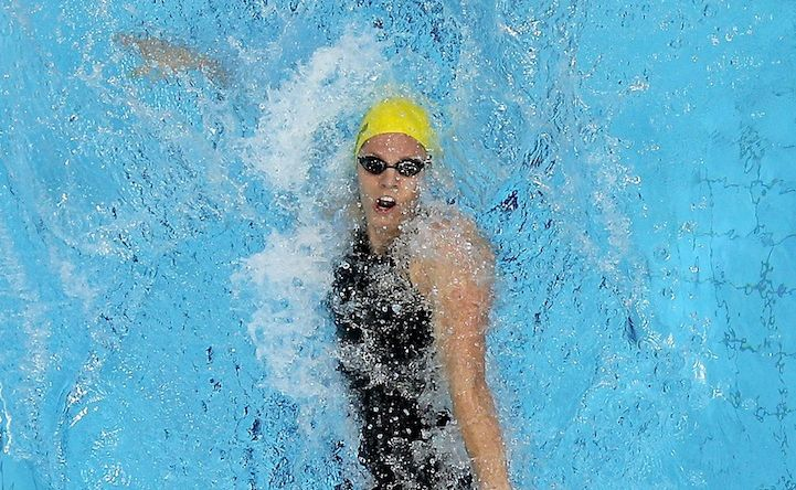 Emily Seebohm has won silver in the women's 100 metre backstroke.