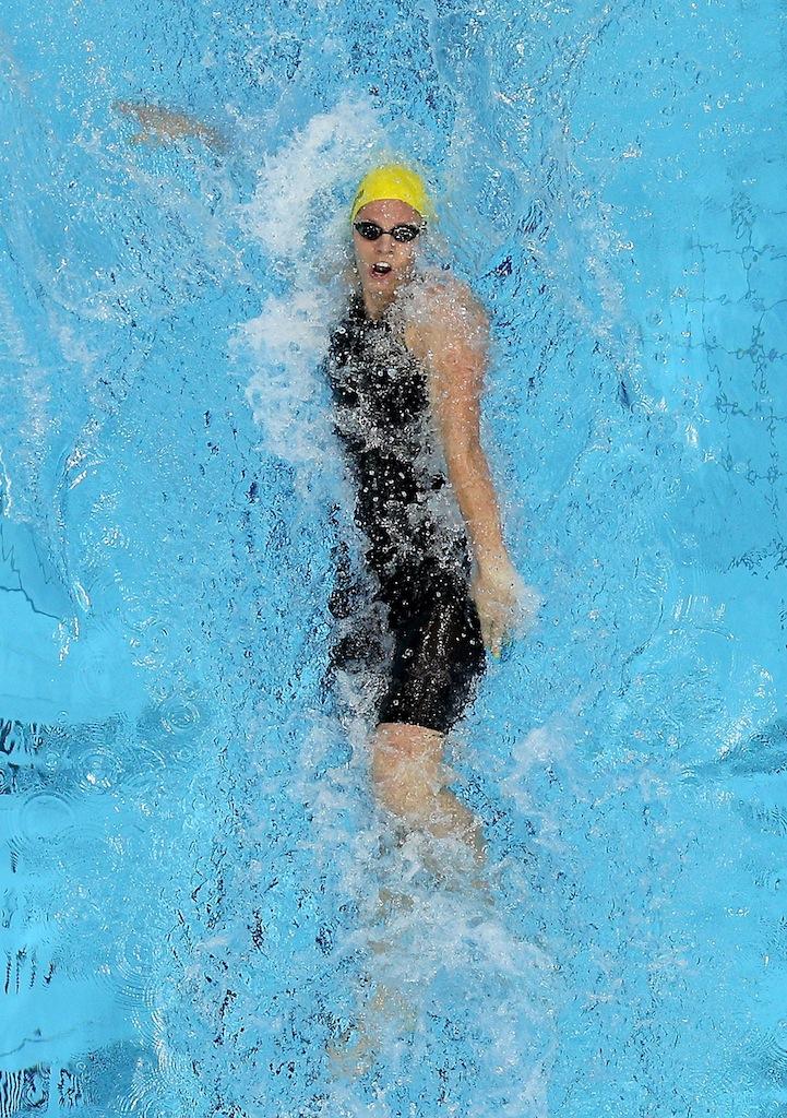 Emily Seebohm has won silver in the women's 100 metre backstroke.