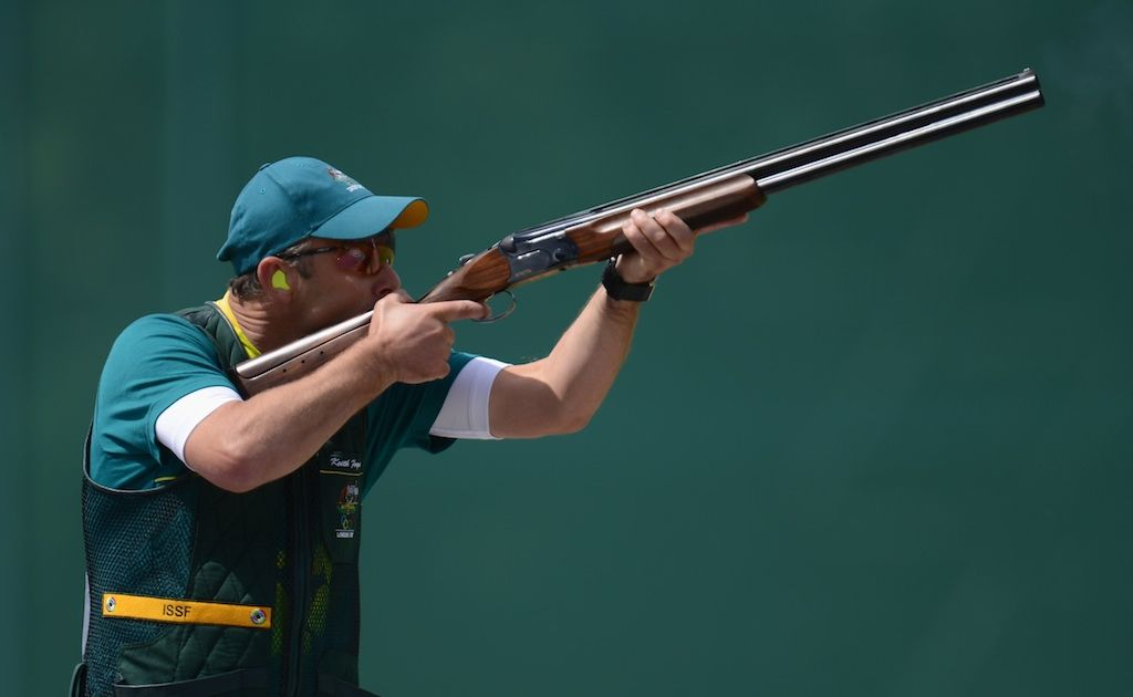 Keith Ferguson is in 11th position after three rounds of the men's skeet competition.