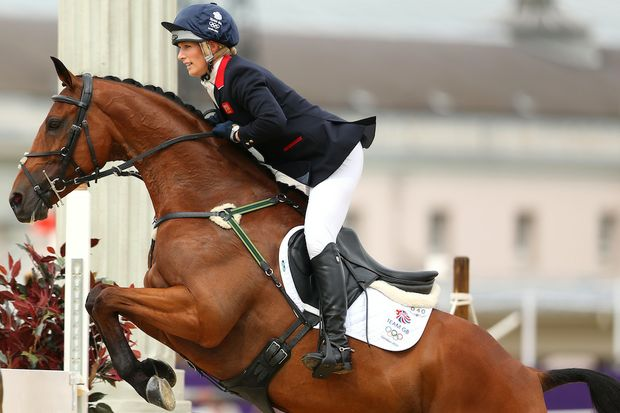 Zara Phillips on High Kingdom has helped Great Britain to a silver medal.