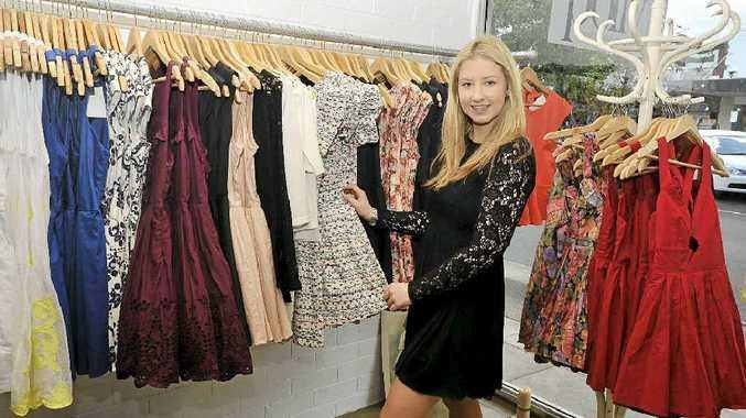 Shop assistant Nina Cox at Princess Polly, a new clothes shop in Lismore.