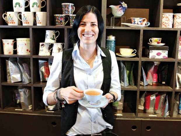 Gina da Silva, owner of The Silva Spoon at Cotton Tree, enjoys a quiet cuppa ... for medicinal purposes.