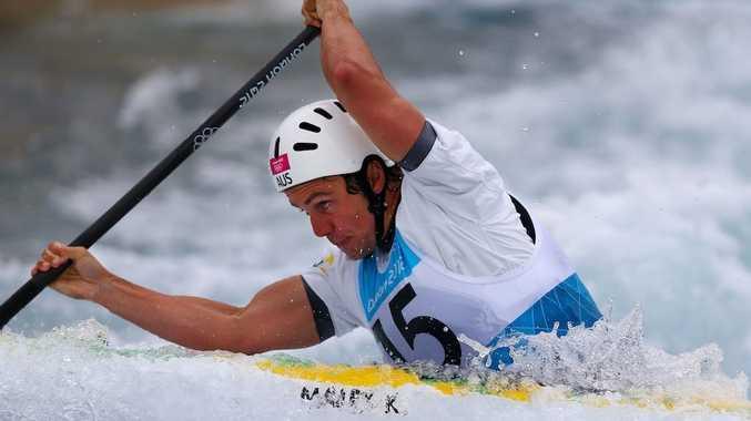 Kynan Maley has made the final of the C1 slalom.