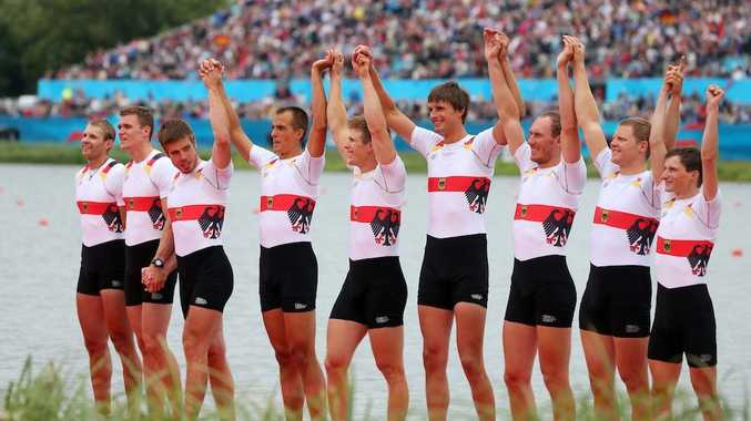 The German rowing crew has won gold in the men's eight.