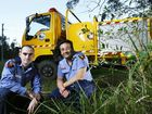 Pine Mountain Rural Fire Brigade volunteer community educators Neal Butler and Garry Fordham.