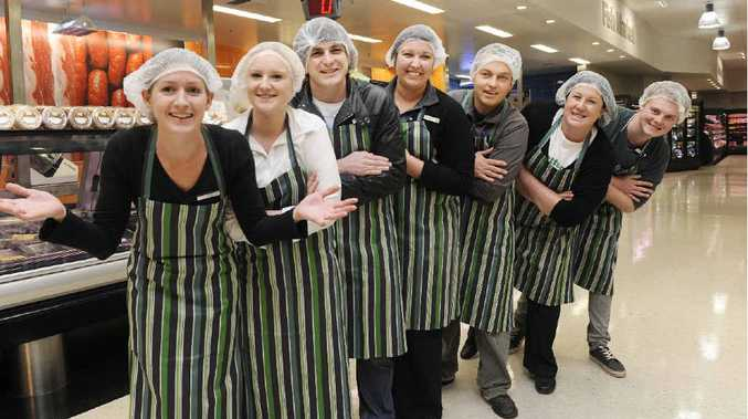 Woolworths Goonellabah deli staff from left, Jess Harrison of Goonellabah, Erin Ryan of Goonellabah, Louise Hollis of Coraki, Tabatha Millar of Brisbane, Jake Newlands of Suffolk Park, Rachael King of Brisbane and Andrew Rogers of The Channon.