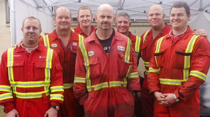 The Grasstree Mine team prepares for action on the surface and underground in the EK Healy Cup.