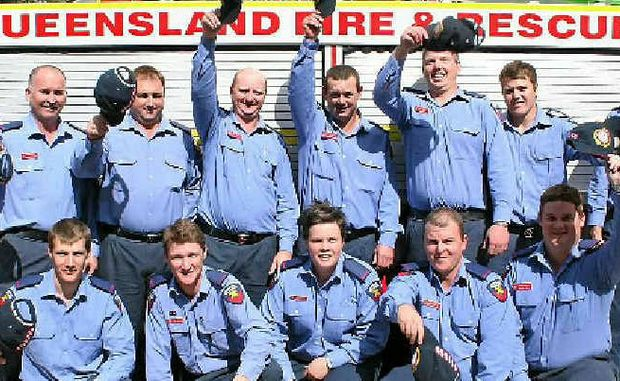 Graduates from the Central Region QFRS Auxiliary Recruits Training and Education Program in Yeppoon.