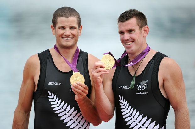 Joseph Sullivan and Nathan Cohen have won New Zealand's first gold medal of the London Olympics.