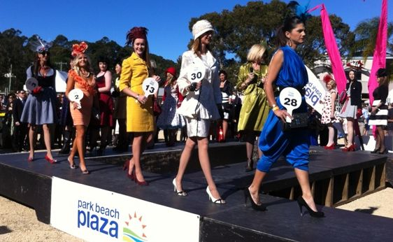 Entrants in the Contemporary Lady fashion category at the 2012 Coffs Cup.