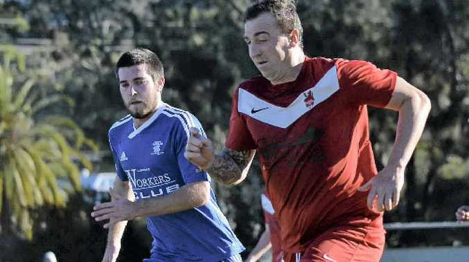 indispensable:Lismore Workers' experienced striker Wayne Mortimer will be a key player as the Redmen strive to maintain their position on top of the table.
