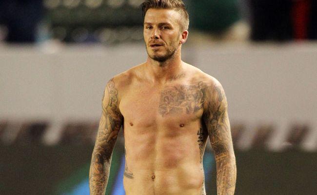 Soccer superstar David Beckham.