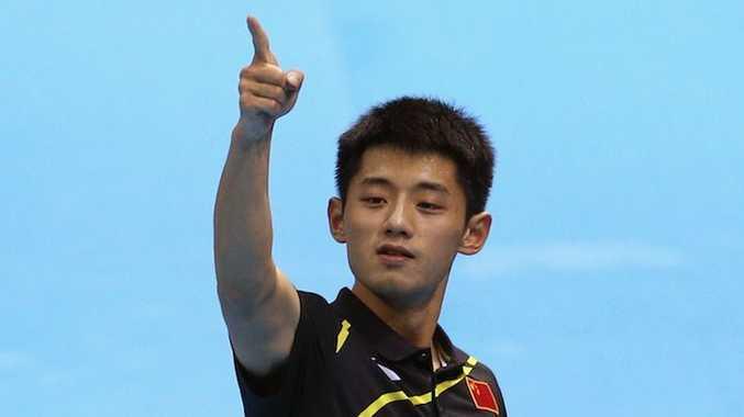 Zhang Jike has won gold in the men's singles.