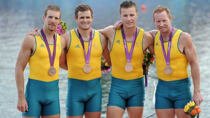 Chris Morgan (far left) has had to show his medal as proof of identity.