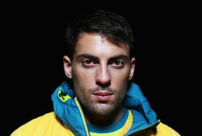Mitchell Watt of Australia poses during the adidas 2012 Australian Olympic Games competitor uniform launch at Sydney Olympic Park Sports Centre on March 28, 2012 in Sydney, Australia.