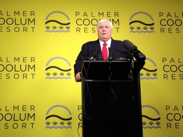 Why does Clive Palmer refuse to answer questions about his resort?