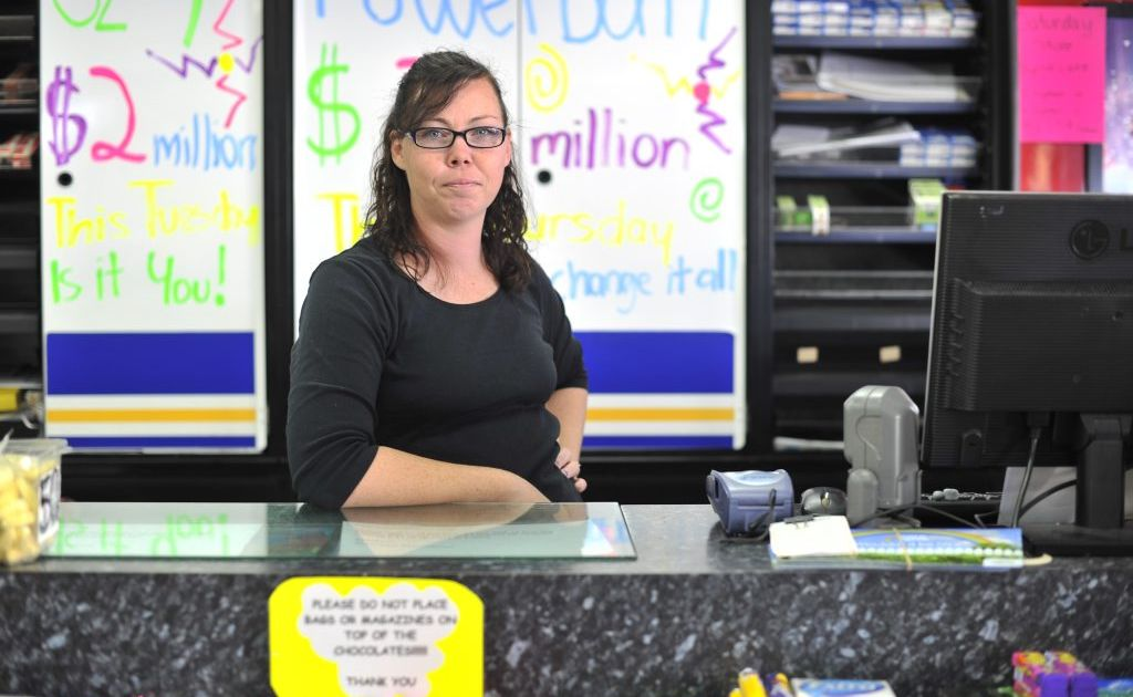 Sara Cumming from the newsagent on Goondoon Street, is fed up with rude customers.