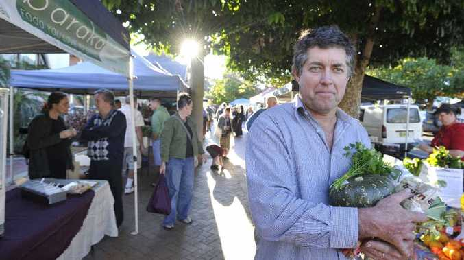 OPTIMISTIC: Lismore Produce Markets president Frank Boyle, also from Nimbin Valley Pecans, is confident of a future for the markets.