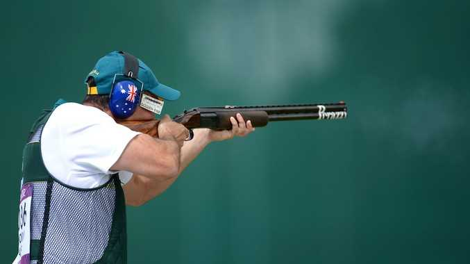 Michael Diamond has finished in fourth place in the men's trap.
