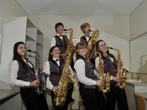 Sax group puts in hours of practice