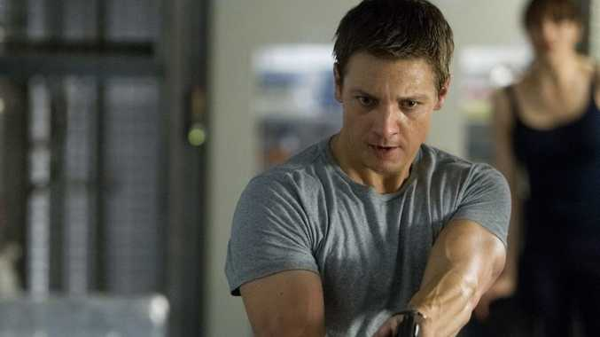 Jeremy Renner in a scene from the new movie 'Bourne' movie, Bourne Legacy.