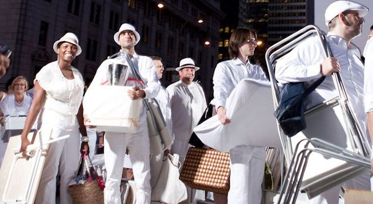 Brisbane is the first Australian city to host Dîner en Blanc , and Sydney is due to follow suit later in the year.