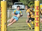 Devil Sean Wilson heads for the line in Gympie's game against Caloundra at Shark Park on Sunday.
