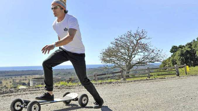 Chad Kolcze will be skateboarding from Canberra to Thredbo in September.