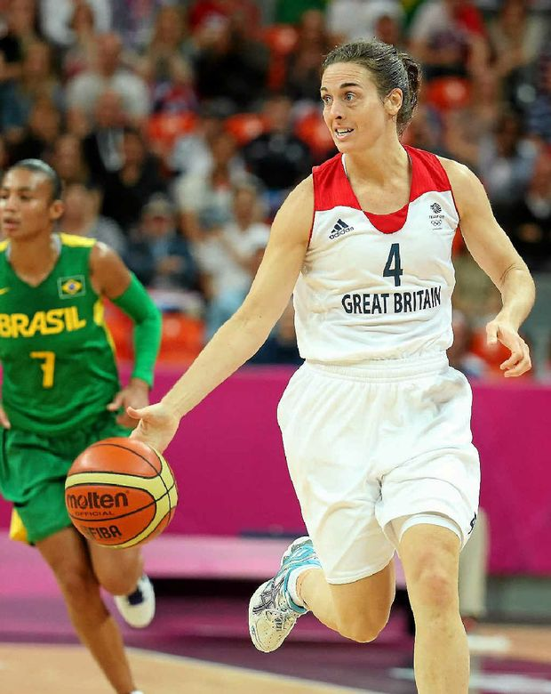 Natalie Stafford during an Olympics preliminary game.