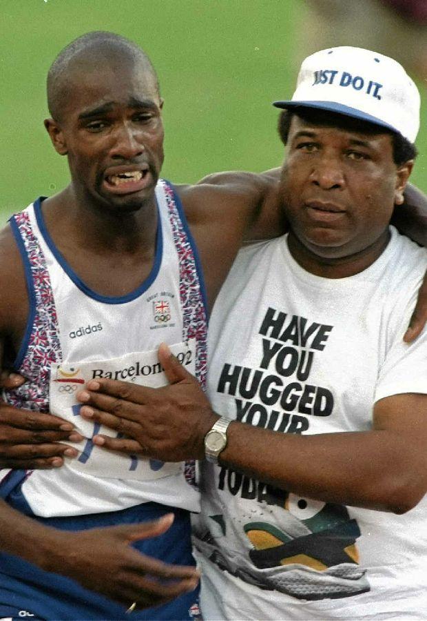 Britain's Derek Redmond, with his father Jim.