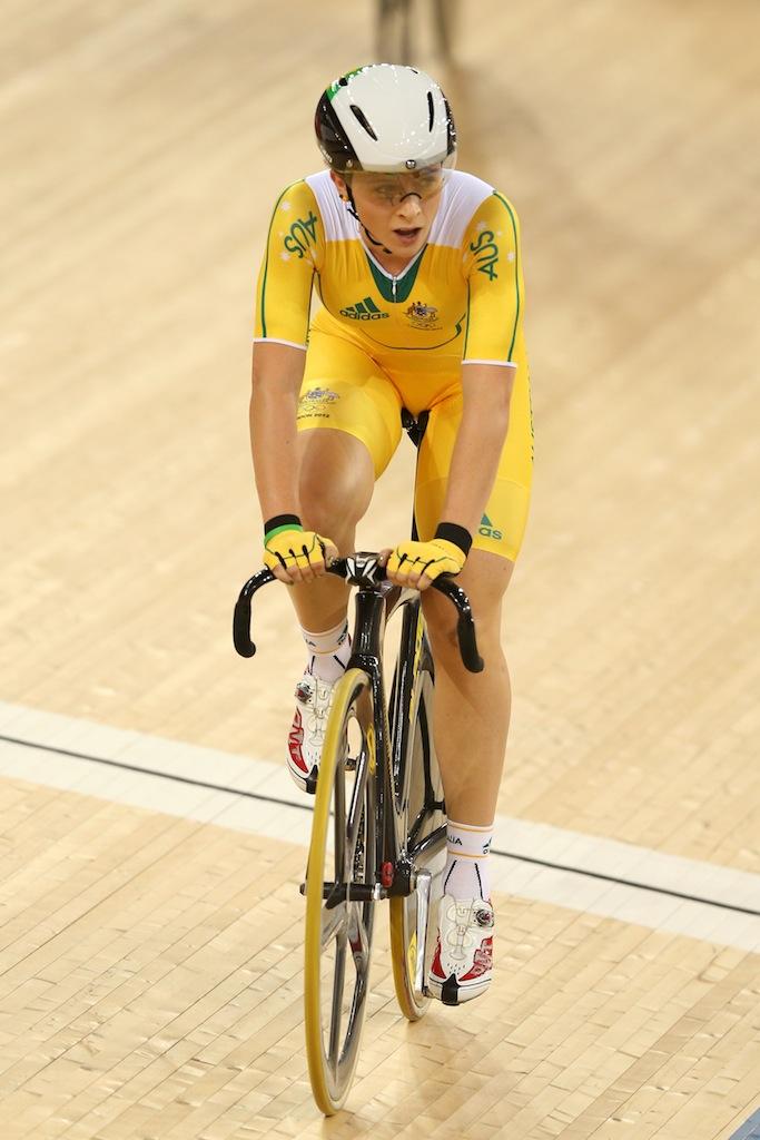 Annette Edmondson has won bronze in the women's omnium.