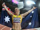 Sally Pearson of Australia wins gold in the women's 100m hurdles final on day 11 of the London 2012 Olympic Games at Olympic Stadium on August 7, 2012 in London, England.