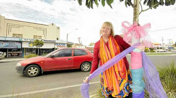 Shopkeeper and co-ordinator of the new Casino Artisan, Food and Song Night Markets, Bonnie Radnidge plans to decorate the street trees in tulle.