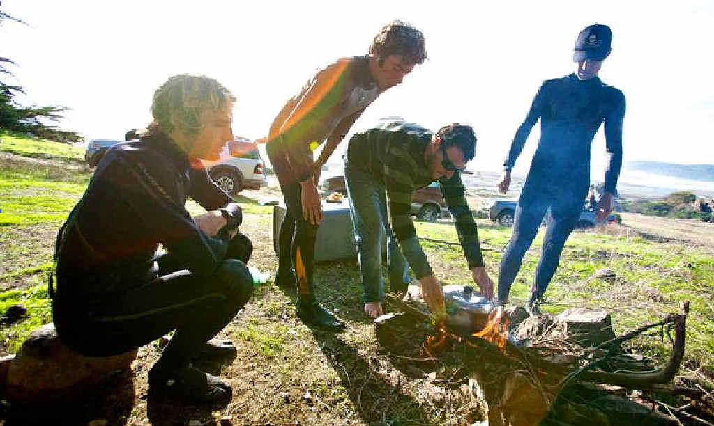 Stars of the surf film El Mar, Mi Alma (from left) Dane Ward, Dave Rastovich, Joel Parkinson and Chris del Moro.