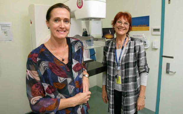 Chief radiographer Abigail Harress-Blaas and radiographer Bernadette Gallagher at BreastScreen Rockhampton.