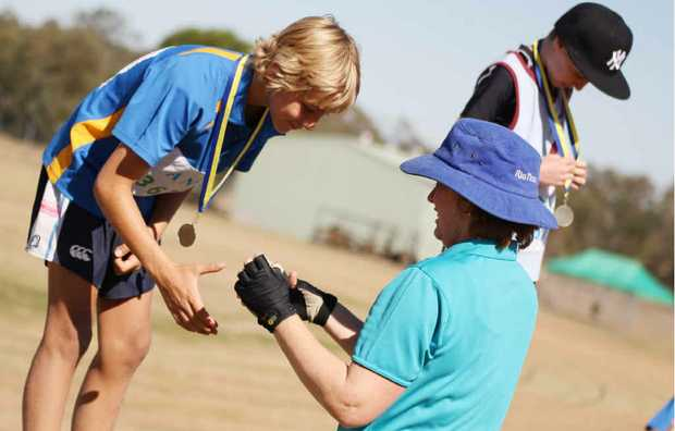 GOLDEN DAY OF SUCCESS: at the weekend, were a big success as Emerald's Leyton Cave received a medal for his all-round efforts.