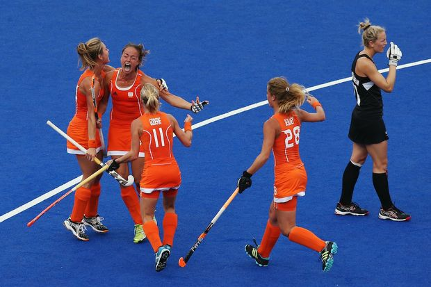 New Zealand has lost to the Netherlands 3-1 in a shootout after the scores were level at 2-2 after extra time.