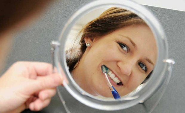 River Dental dental hygienist Samantha Abbott says people need to brush twice a day and floss once every day.