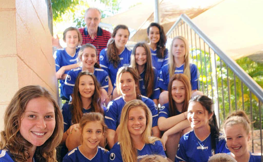 (Front, from left) captain Montana Mincher, Hollier O'Neil, Anna Cartwright, (second row) Billie Strachan, Lome Eins, Makayla Twine, Brooke Sellick, (third row, from left) Whitney Corbet, Siobhan Millard, Ellen Smith, (fourth row, from left) Felicity Cameron, Alice Cartwright, Karleigh Mackay, (back, from left) Lily Dargusch-Haig, coach Terry Wigmore, Kasey Gibbs and Kababinna Browning.