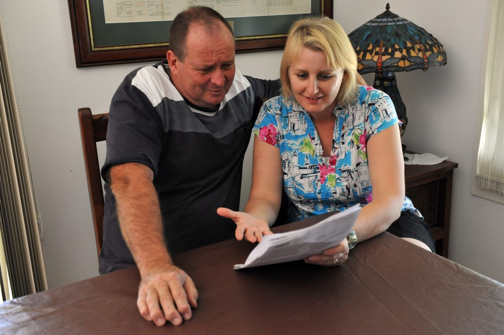 WHAT THE: Bill and Trish Applebee are appalled at the increase in their house3 and contents insurance.