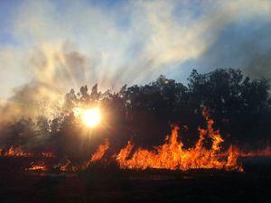 City on bushfire alert