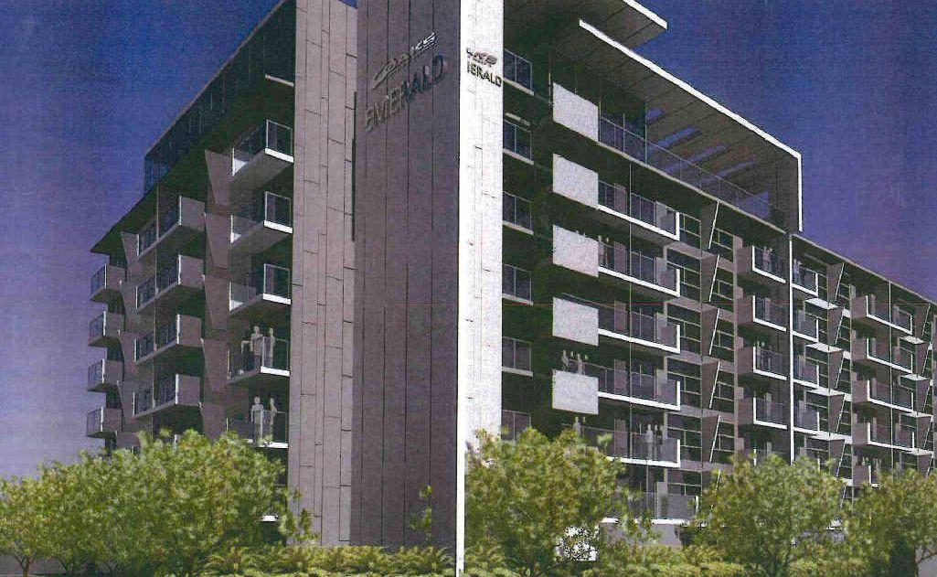 The eight-storey Oaks Emerald hotel will dominate the CBD skyline.