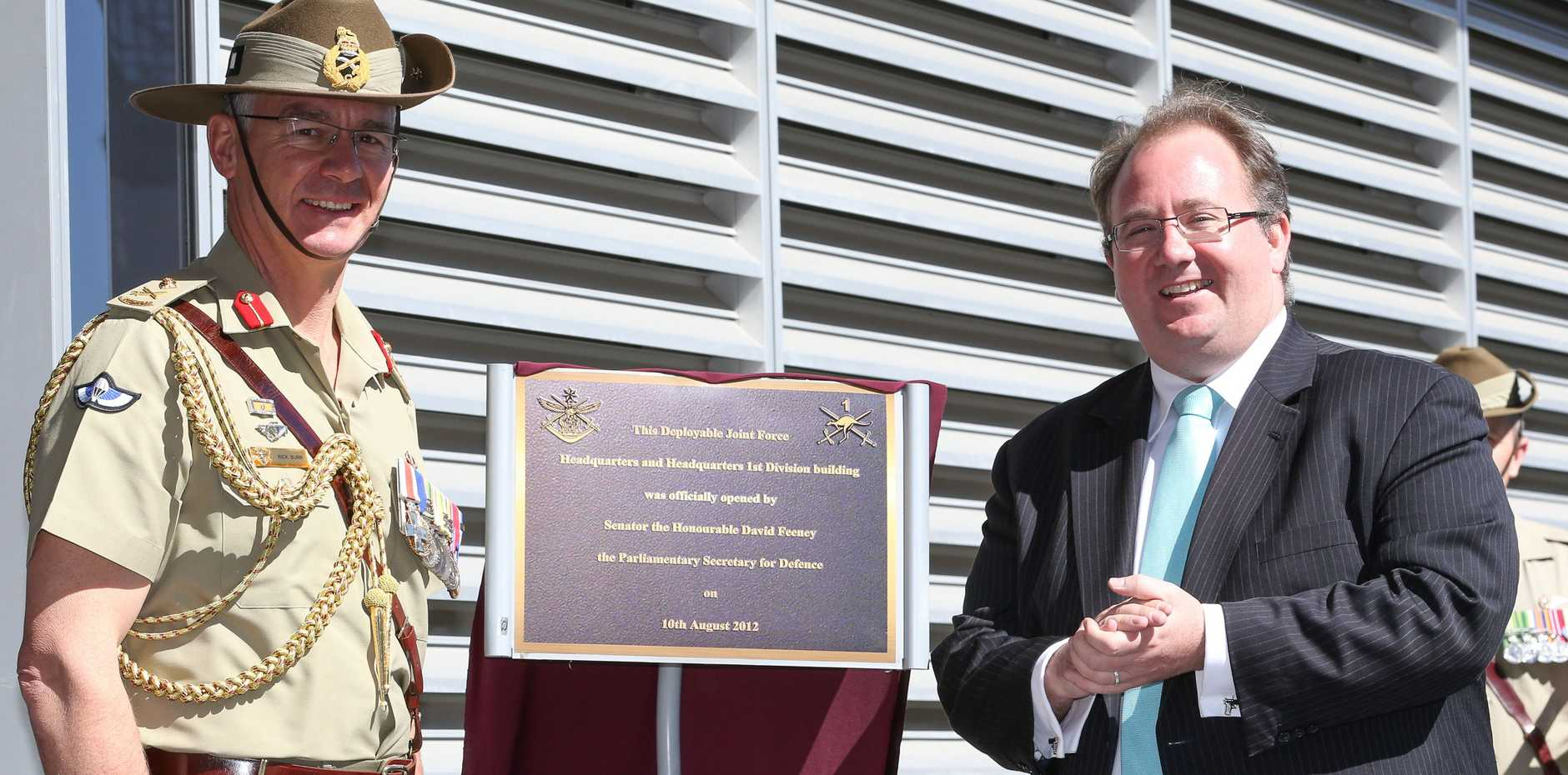 The Australian Army's new, purpose-built headquarters for 1st Division and Deployable Joint Force Headquarters were officially opened early yesterday (Aug 10) at Gallipoli Barracks, Enoggera by the Parliamentary Secretary for Defence, Senator David Feeney.