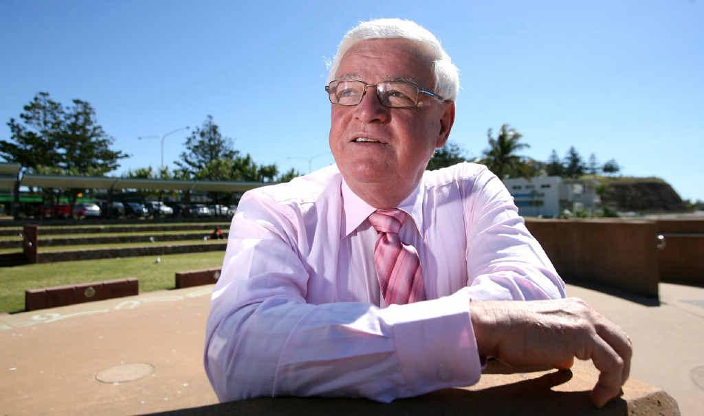 Former Member for Keppel Paul Hoolihan sitting at Yeppoon's Main Beach. Mr Hoolihan believes Livingstone Shire cannot financially sustain de-amalgamation.