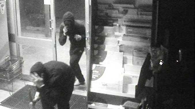 Thieves break into the Spar Express Newtown supermarket.