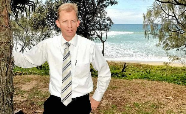 Andrew Garland from Ray White Real Estate is selling land at Currimundi with ocean views.
