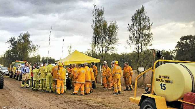 More than 25 crews from across the Darling Downs were called to yesterday's fire near Leyburn.