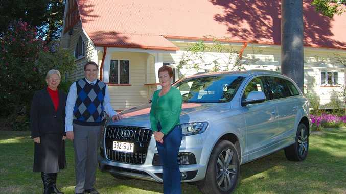 GOLF DAY PLANNED: The Glennie principal Wendy Ashley-Cooper (left) with Audi dealer principal Dave Russell and Glennie foundation chair Helen Tilly.
