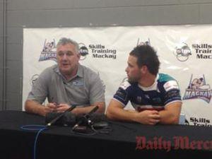 Eagles Dave Cordwell and Callum Klein